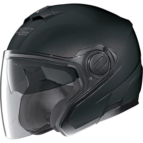 Nolan N40 Classic Solid Helmet, Distinct Name: Flat Black, Gender: Mens/Unisex, Primary Color: Black, Helmet Type: Open-face Helmets, Helmet Category: Street, Size: Lg N345270330101