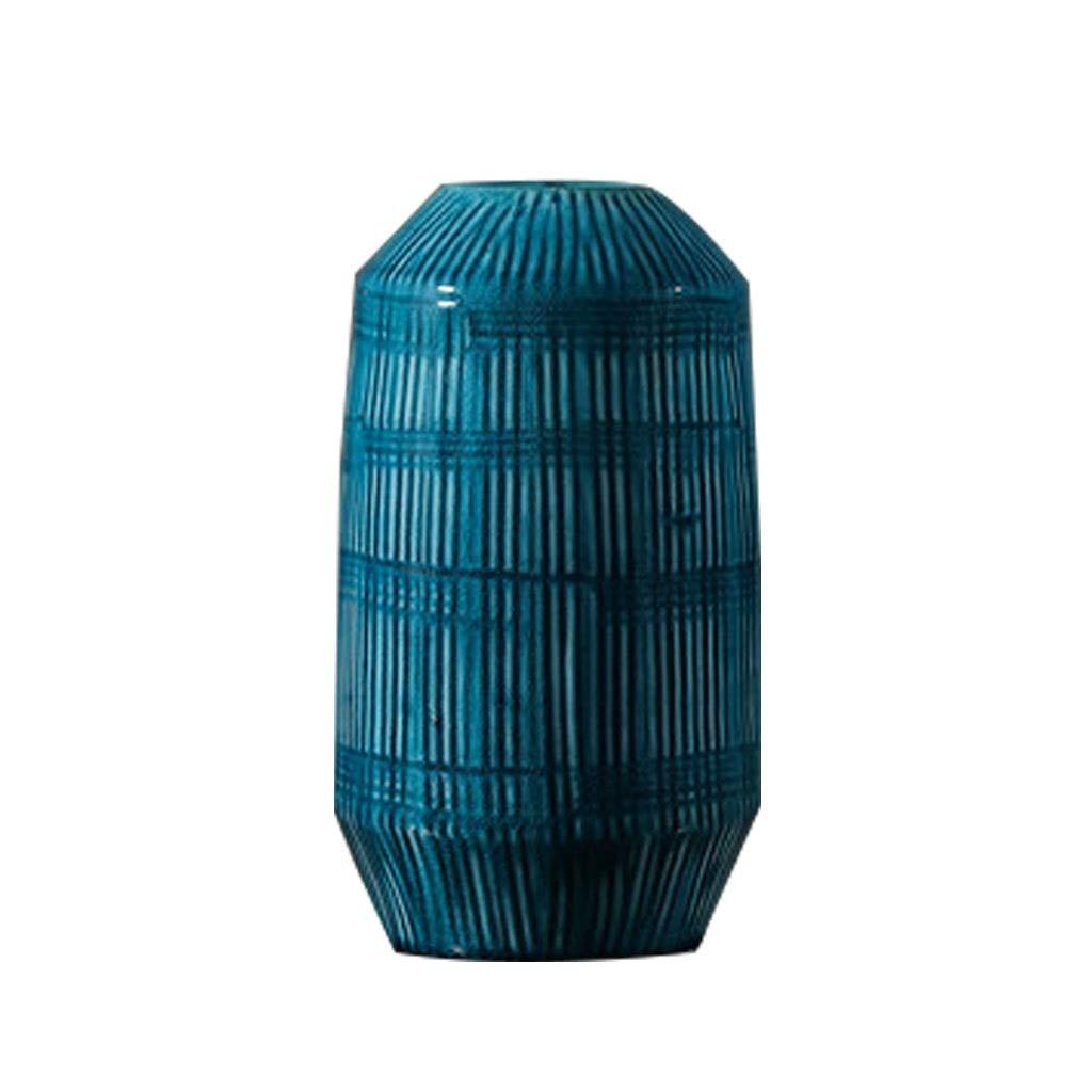 新しい中国のレトロセラミック花瓶ホームドライフラワーフラワーアレンジメント飾り装飾 LQX B07R13SZQ3