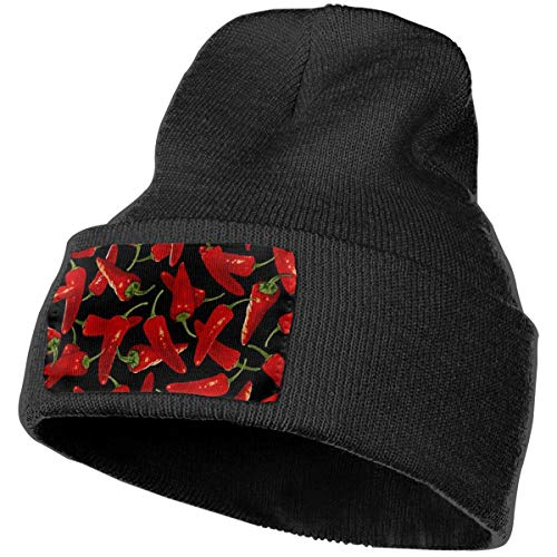 (Unisex 100% Acrylic Knitting Cap, Soft Chili Peppers Chili Watch Hat for Unisex)