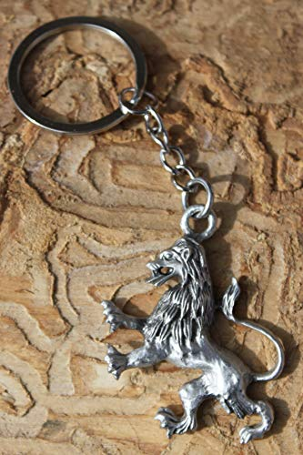 Hastings Pewter Company Lead Free Pewter Lion Keychain Made in Michigan key chain ()