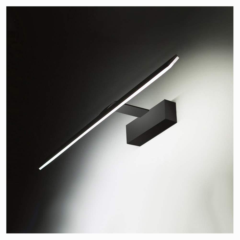 schwarz-58cm BAIF Beleuchtung Nordic Spiegel Scheinwerfer, Badezimmerspiegel Scheinwerfer Led wasserdichte Spiegel Scheinwerfer Einfache Spiegelschrank Badezimmerspiegel Licht (Farbe  Weiß-41CM)