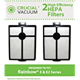2 Washable & Reusable HEPA Filters Fit Rainbow E-Series & E2-Series Vacuums; Compare to Rainbow Part Nos. R7292, R12107B; Designed & Engineered by Think Crucial