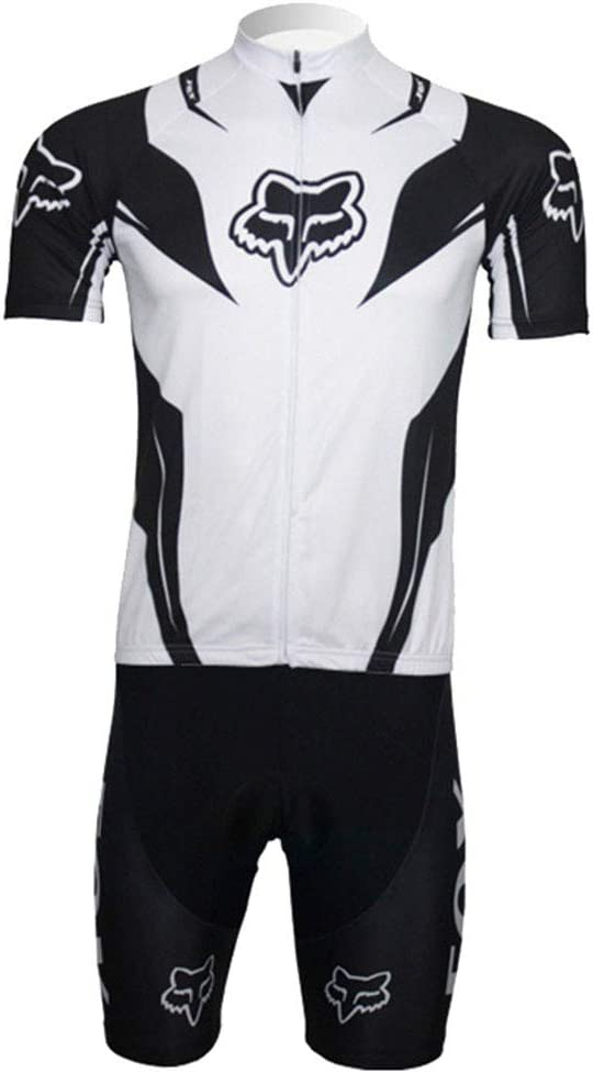 CNBPLS Maillot de Verano para Hombre, Transpirable, de Secado rápido y Manga Corta en Bicicleta de montaña,White,M