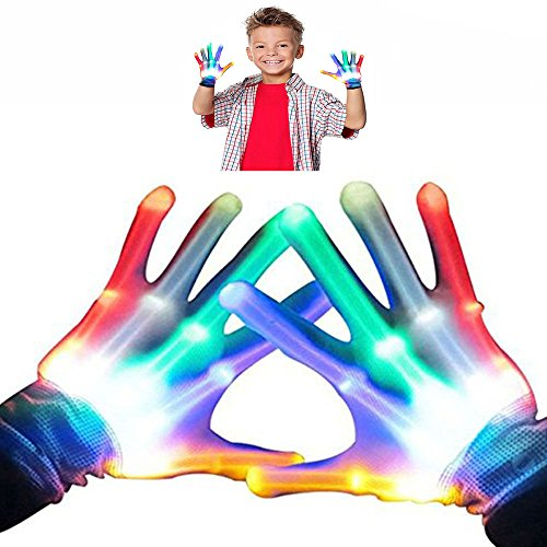 Toys for 3-12 Year Old Boys, Wiki Kids Colorful Flashing Finger The Best Gloving Toys for Boys Age 3-12 Gifts for Teen Boys Gifts for Teen Girls Toys for 3-12 Year Old Girls WKUSSTG05