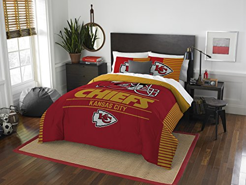 NFL Kansas City Chiefs Draft Full/Queen Comforter and 2 Sham Set (Chiefs City Kansas Bedding)