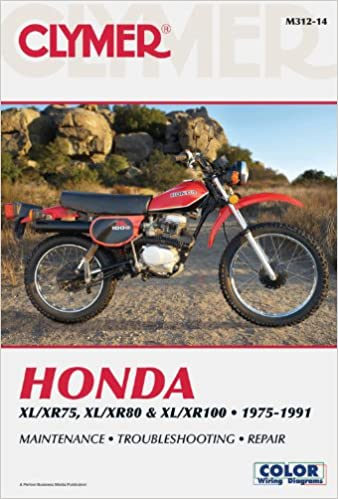 honda xl/xr75, xl/xr80 & xl/xr100 1975-1991 (clymer color wiring diagrams)  14th revised ed  edition