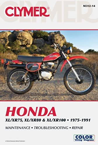 honda xl xr75 xl xr80 xl xr100 1975 1991 clymer color wiring rh amazon com Motorcycle Wire Connectors Motorcycle Wiring For Dummies