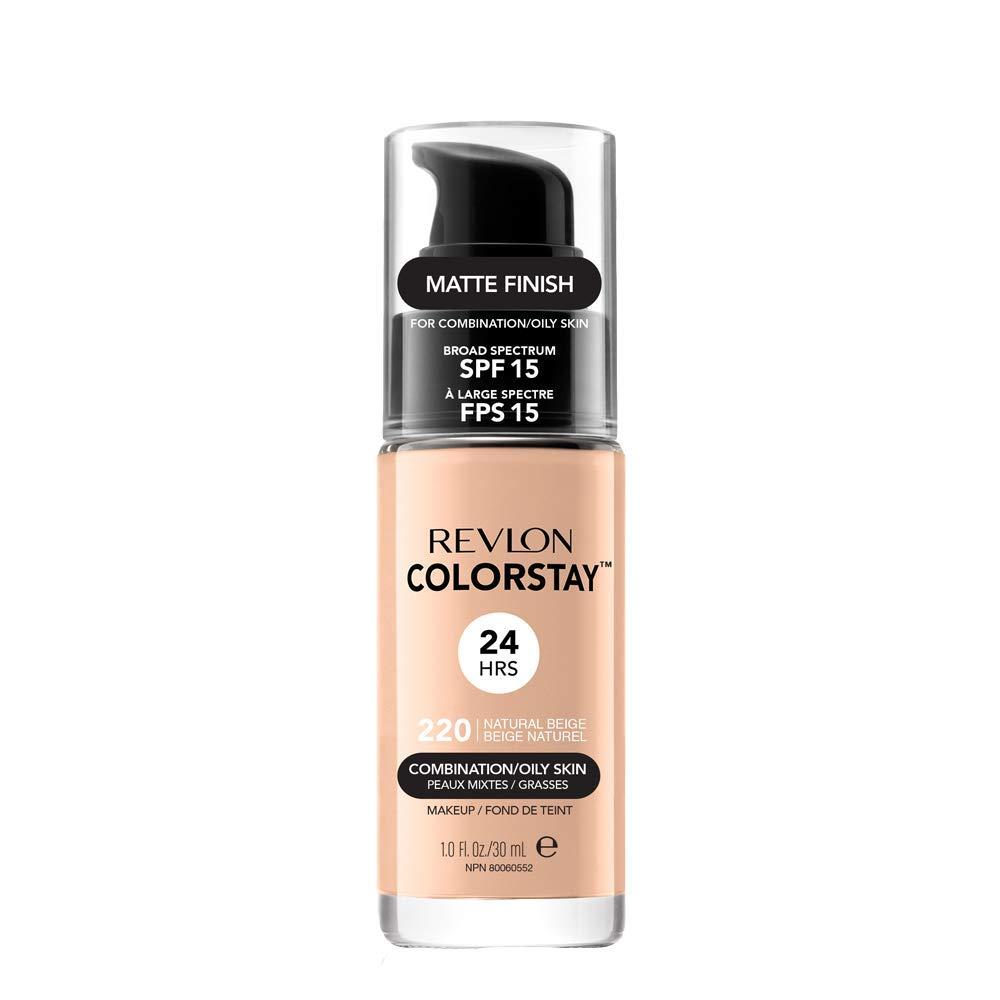 Revlon ColorStay Base de Maquillaje piel mixto/graso FPS15 (220 Natural Beige) 30 ml