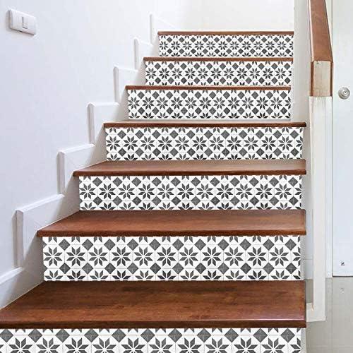 Fandhyy DIY PVC Autoadhesivo 3D Escaleras Pegatinas Azulejos De La Pared Escaleras Pegatinas Extraíble Impermeable Papel Pintado Cartel Escalera Decoración: Amazon.es: Hogar