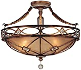 Minka Lavery 6757-206 3 Light Semi Flush Mount, Aston Court Bronze Finish Review