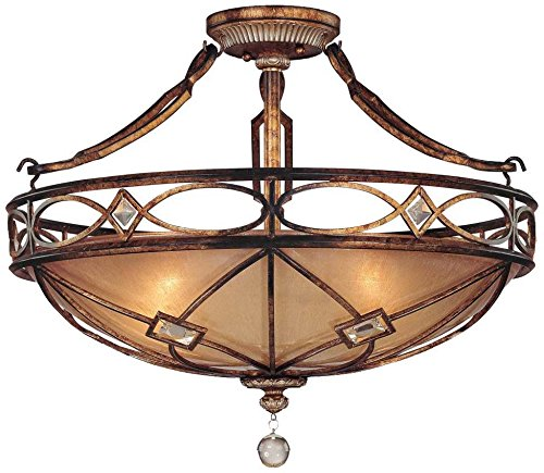 Minka Lavery 6757-206 3 Light Semi Flush Mount, Aston Court Bronze Finish