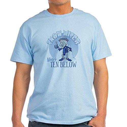 CafePress Snow Miser - Mister Ten Below Light T-Shirt 100% Cotton T-Shirt (Miser Heat Christmas)