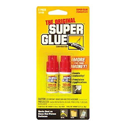 PACER 0.11 Oz/3g Jewelry/Nail Super Glue Bottle (2/Pack), Case Pack of 24