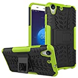 for Huawei Honor 5A / for Huawei Y6 II/y62 Case Cell Green Cool Phone Cases Armor personality Protect Covers Detachable Shockproof Dual-Layer Cover
