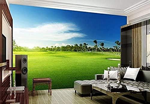 Ansyny カスタム壁画ルーム3D写真装飾壁画壁紙ゴルフ草原風景写真装飾壁画壁紙ルームテレビの背景-360X220CM