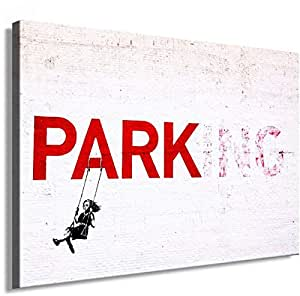 Banksy Graffiti Street Art 1364. Size 100x70x2cm(l/h/w). Canvas On Wooden Frame. Made In Germany.