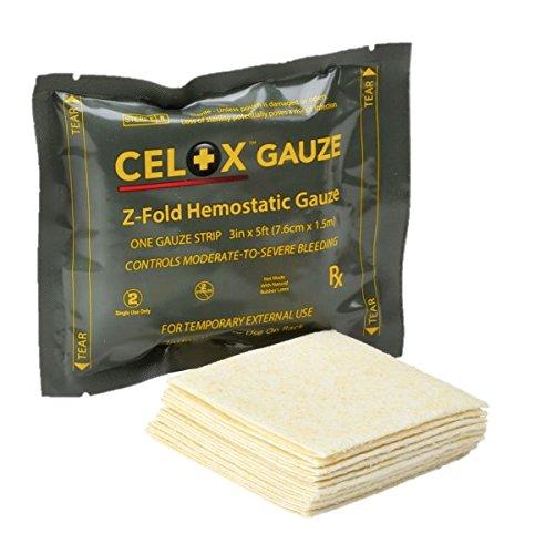 Celox Z-Fold Gauze (3in x 5ft (7.6cm x 1.5m))