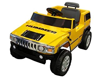 yellow 6v hummer h2 kids ride on toy