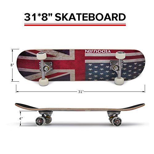 low-cost PUENTE 31 Inch Complete Skateboard - 7 Layer
