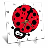 3dRose dc_118600_1 Cute Little Goofy Ladybug with Lots of Spots-Desk Clock, 6 by 6-Inch Review
