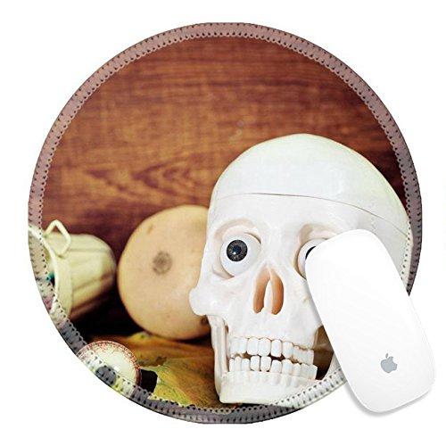 Luxlady Round Gaming Mousepad 21992311 Creepy skull halloween sweets and pumpkins for Halloween (Creepy Halloween Dessert Ideas)