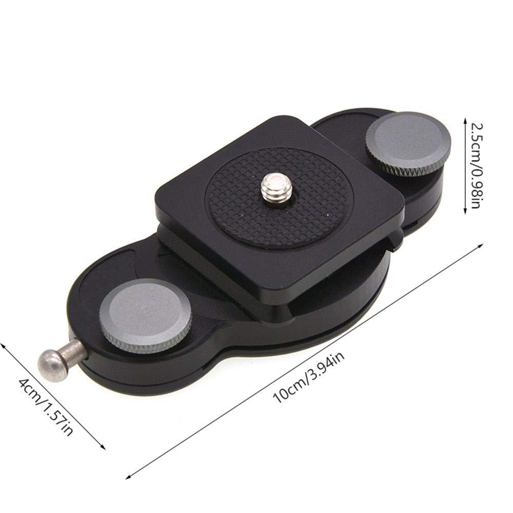 soporte de clip para cintur/ón para c/ámara SLR DSLR clip de liberaci/ón r/ápida de aleaci/ón de aluminio con placa y tornillos de tr/ípode de 1//4 Bot/ón de hebilla para cintur/ón de c/ámara Ooouse