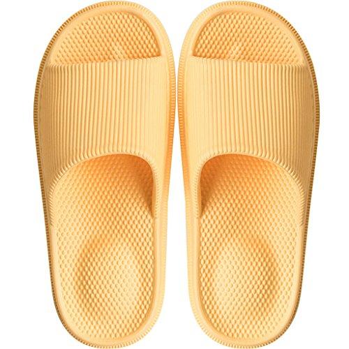 Jaune pantoufles Le UK4 printemps de Couleur LI talon et femelle de de SHI simple Pantoufles Le slippers taille XIANG EU36 bain jaune SHOP massage maison d'été CN36 ZqwOFxg4rZ