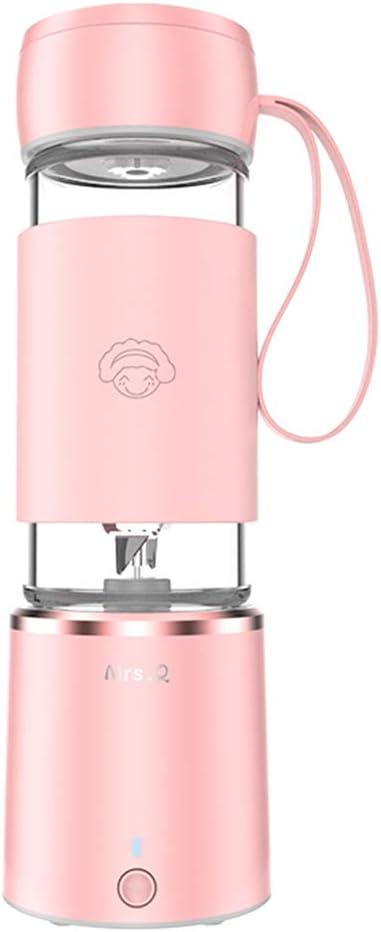 Rosa Inalámbrico Exprimidor Eléctrica Botella USB Recargable ...
