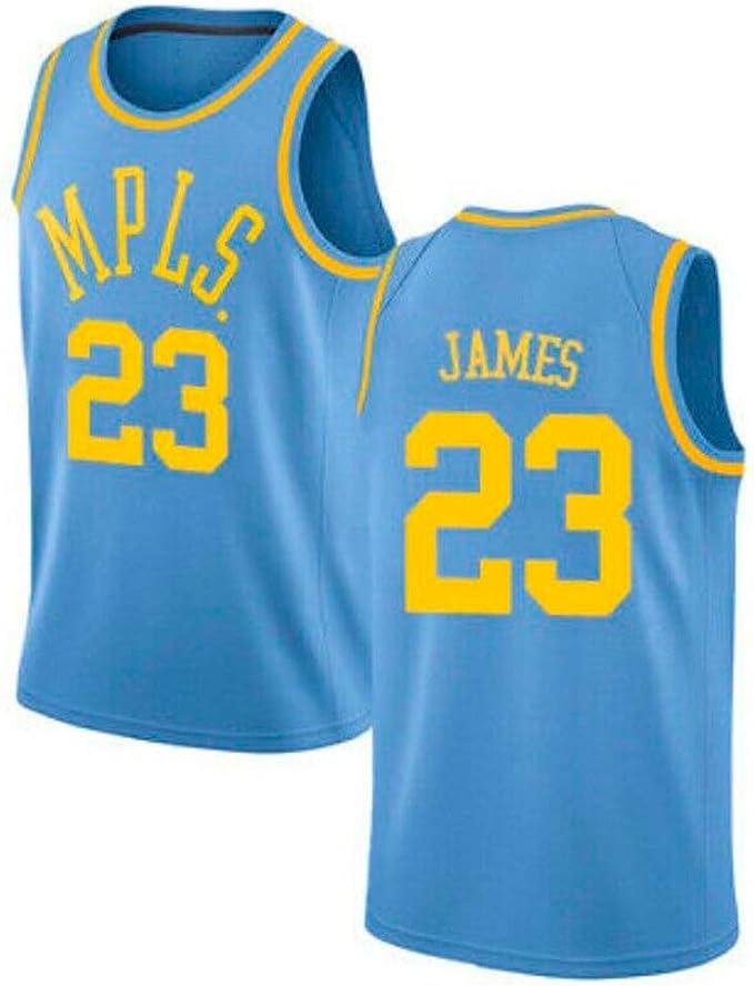 DCE Jersey de Hombre Lakers 23# Lebron James Camisa de Baloncesto ...