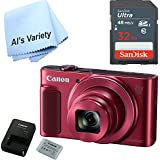 Canon SX620 Digital Camera w/25x Optical Zoom - Wi-Fi & NFC Enabled (Red) with Free SanDisk Ultra 32GB SDHC Class 10 Card