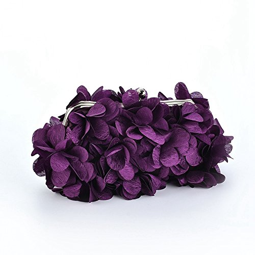 Party Clutch Womens purple Handbag Style Antique flower Cocktail purse wallet wedding handmade Vintage Evening W86Sxvna6