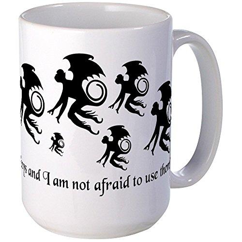 Unique Monkey Gift (CafePress - Flying Monkey Mugs - Coffee Mug, Large 15 oz. White Coffee Cup)
