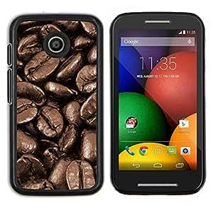 LECELL--Funda protectora / Cubierta / Piel For Motorola Moto E -- Granos de café Macro --