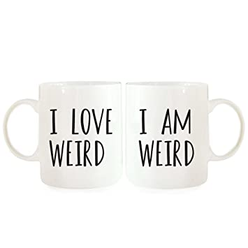 andaz press coffee mugs gift set i am weird i love weird 2