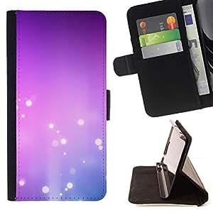 For Sony Xperia Z3 Plus / Z3+ / Sony E6553 (Not Z3) Case , Purple Pink Bubbles Blanca- la tarjeta de Crédito Slots PU Funda de cuero Monedero caso cubierta de piel