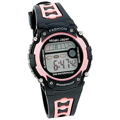 Womens Stopwatch (Mitaki-Japan Ladies' Digital Sport Watch - Features Include Waterproof, Stopwatch, and Alarm)