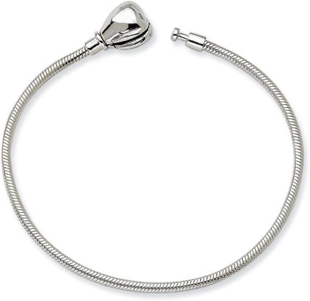 Sterling Silver 14cm Kids 5.5in Hinged Clasp Bracelet