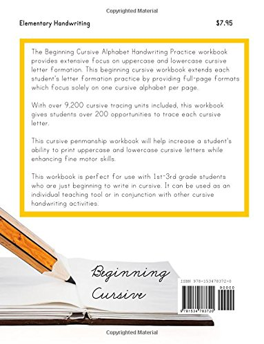 Counting Number worksheets letter trace worksheets : Beginning Cursive: Alphabet Handwriting Practice (Over 9, 200 ...
