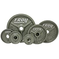 Troy High Grade Fully Machined Wide Flanged Olympic Plate 2.5-100 lbs