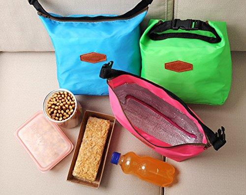 UltiFit (TM) Pr¨¢ctica t¨¦rmica nevera port¨¢til que acampa impermeable de la comida campestre bolsa del bolso del almuerzo bolsa de almacenamiento Rosa roja