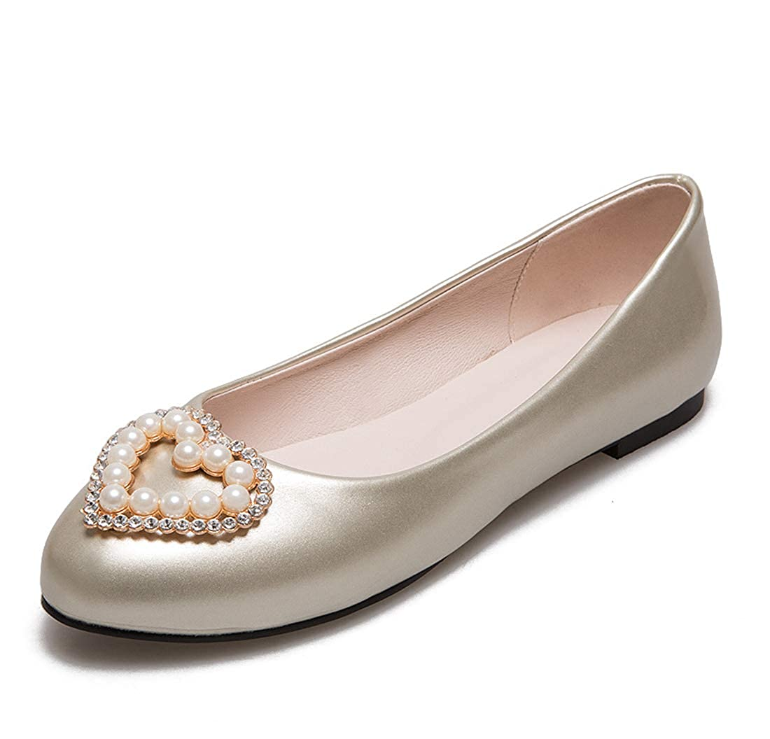 SERAPH 17-6 Ballerines Femmes Perles Détails Ballerines Dames Bateau Dolly Pompes Dames Dolly Chaussures Metallic 9dc4266 - therethere.space