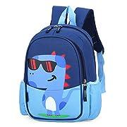 POWOFUN Kids Toddler Backpack Unicorn Cool Cute Cartoon Backpack (Dinosaur Blue)