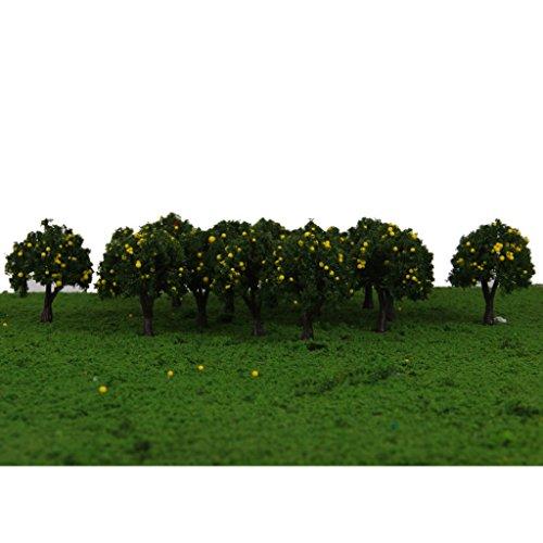 Lot 20 Arbre Fruit HO Maquette Train électrique Jouef Accessoire Vert 4cm