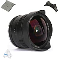 7artisans 7.5mm F2.8 APS-C Wide Angle Fisheye Manual Fixed Lens for Sony E Mount Cameras A7 A7II A7R A7RII A7S A7SII A6500 A6300 A6000 A5100