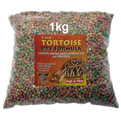 1KG T-Rex Tortoise Food - Dry Formula Complete Diet Sent in Resealable Bag