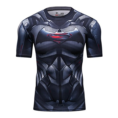 Mens Muscle T-shirt Air - Red Plume Men's Compression Sport Tight Bat Running T Shirt