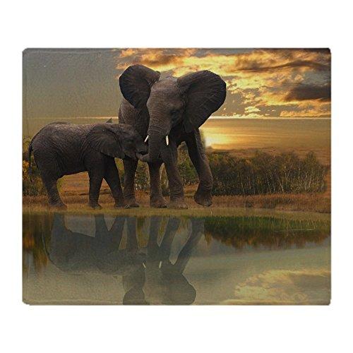 CafePress Mother Elephant and Child Soft Fleece Throw Blanke