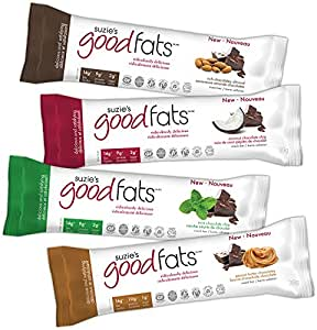 Suzie's Good Fats Bars (Keto, Healthy Fats, Low Carb, Low Sugar, Gluten Free, Non GMO), 39g - box of 12 (variety pack)