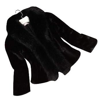 Chaqueta de Piel de visón de imitación Slim fit para Mujer Abrigo de Invierno cálido y