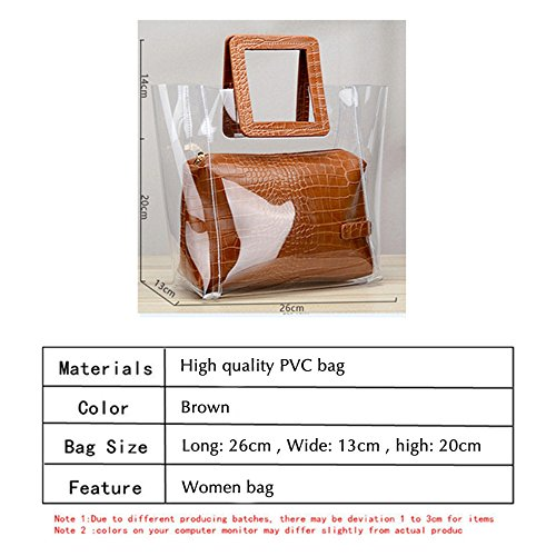 Bag Beach Crossbody Tote Shoulder trasparente FANCY impermeabile LOVE 1 secchio Classy wx4Yzp